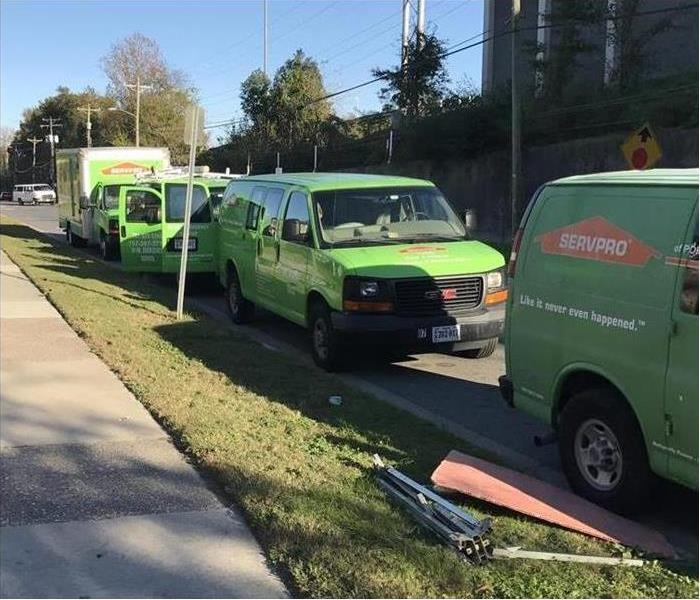 Our SERVPRO trucks are ready to go